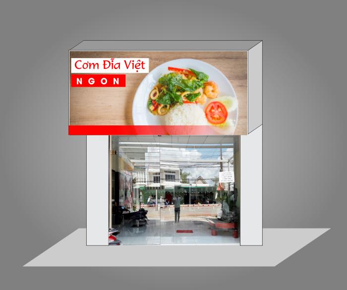 biển quảng cáo cửa hàng ăn uống