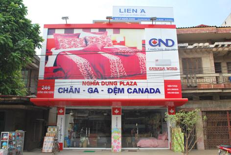 Biển quảng cáo cửa hàng chăn – ga – gối – đệm