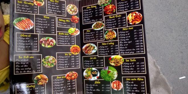 In menu Nhà Hàng- Quán Ăn – Cafe Tại Hải Phòng